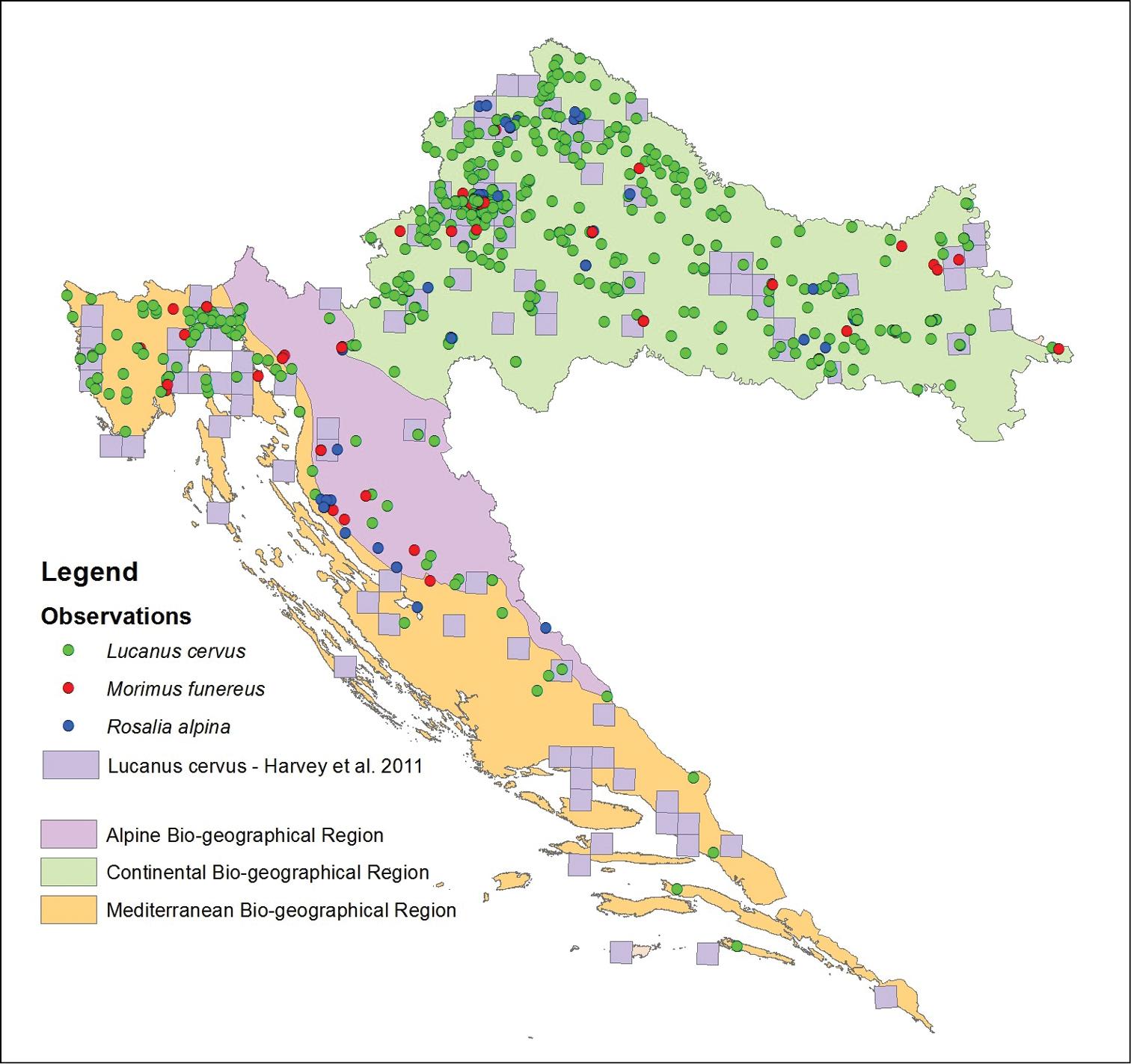 Monitoring of saproxylic beetles in Croatia: following the