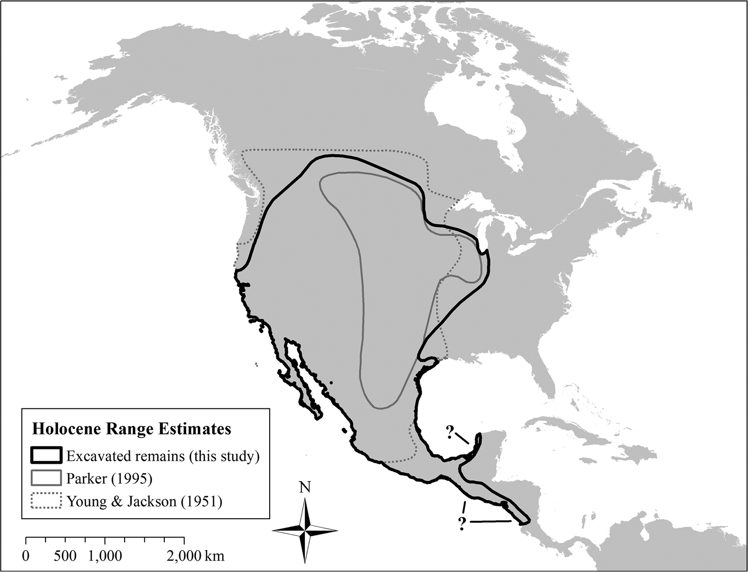 Mapping the expansion of coyotes (Canis latrans) across North and
